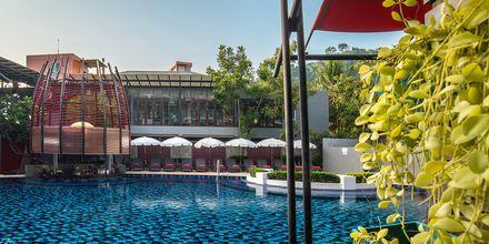Poolområde på Red Ginger Chic Resort på Krabi, Thailand.