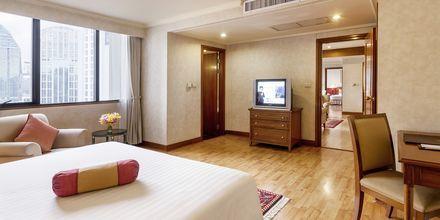 Tvårumslägenhet på hotell Rembrandt i Bangkok, Thailand.