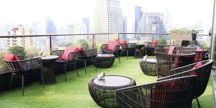 Takbar på hotell Rembrandt i Bangkok, Thailand.