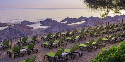 Stranden vid Rethymno Palace i Rethymnon på Kreta, Grekland.