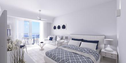 Dubbelrum på hotell Rethymno Palace i Rethymnon på Kreta, Grekland.