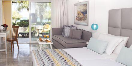 Familjerum på hotell Rethymno Palace i Rethymnon på Kreta, Grekland.