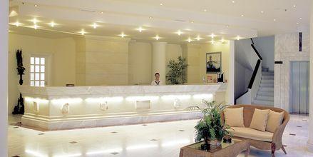 Reception på hotell Rethymno Palace i Rethymnon på Kreta, Grekland.