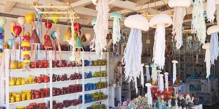 I Rethymnon stad finns det gott om mysiga souvenirbutiker.
