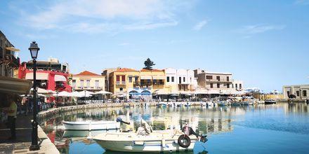 Hamnen i Rethymnon stad, Grekland.