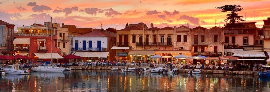 Strand i Rethymnon på Kreta.