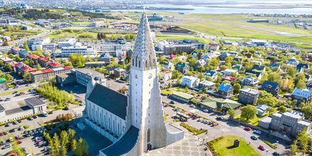 Hallgrímskirkja i Reykjavik, Island.