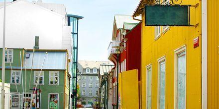Gata i Reykjavik på Island.