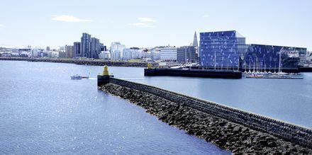Reykjavik med det kända operahuset Harpa.