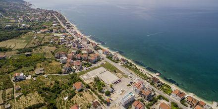 Områdesvy kring hotell Ringo i Podstrana, Kroatien.