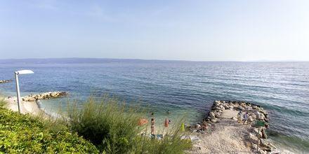 Stranden vid hotell Ringo i Podstrana, Kroatien.