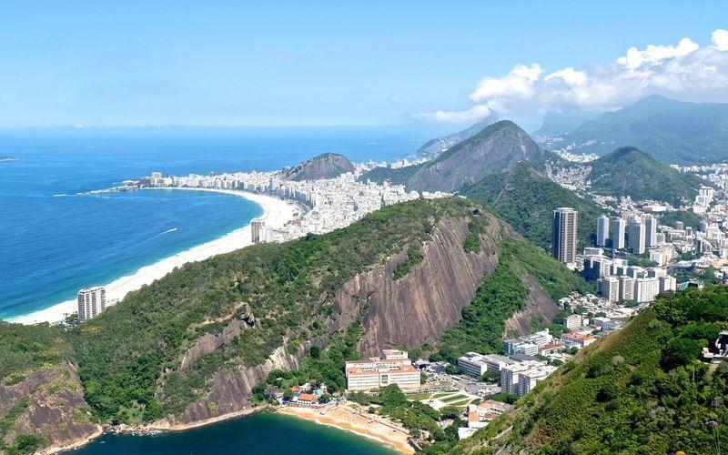 Vy över Rio den Janeiro.