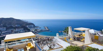 Utsikt från hotell Riosol i Puerto Rico på Gran Canaria.