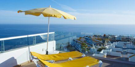 Solterrass på hotell Riosol i Puerto Rico, Gran Canaria.