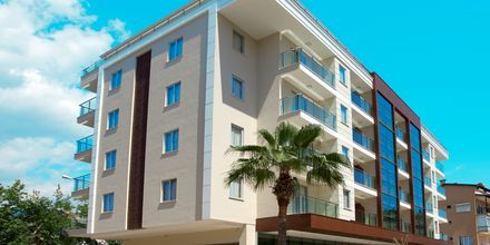 Byggnaden från 2011 på hotell Riviera i Alanya, Turkiet.