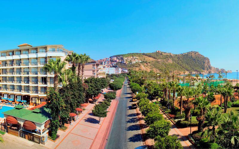 Hotell Riviera i Alanya, Turkiet.