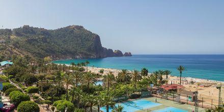Poolområdet på hotell Riviera i Alanya, Turkiet.