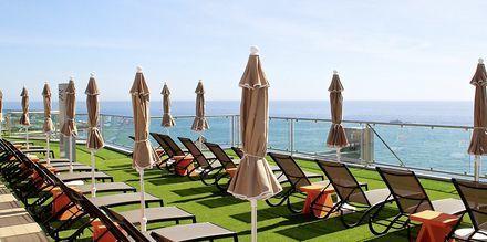 Soldäck på hotell Riviera Vista på Gran Canaria, Kanarieöarna.