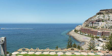 Utsikt från hotell Riviera Vista på Gran Canaria, Kanarieöarna.