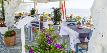 Restaurangen på RK Beach i Kamari, Santorini.