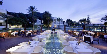 Restaurang på hotell Rodos Palace i Ixia på Rhodos, Grekland.
