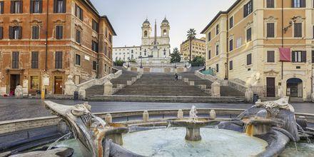 Spanska trappan i Rom, Italien.