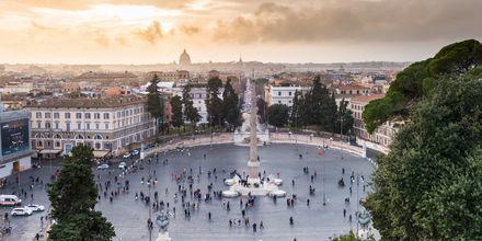 Piazza del Popolo, ett populärt torg i Rom.