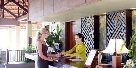 Reception på hotell Romana Beach Resort i Phan Thiet, Vietnam.