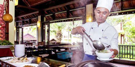 Restaurang på hotell Romana Beach Resort i Phan Thiet, Vietnam.