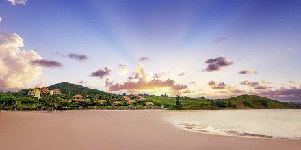 Stranden vid hotell Romana Beach Resort i Phan Thiet, Vietnam.