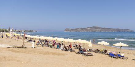 Stranden vid hotell Rose i Kato Stalos på Kreta.
