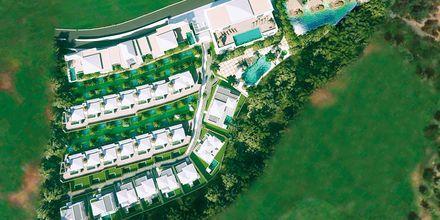 Skissbild på hotell Royal River Luxury Hotel i Playa de las Americas på Teneriffa.