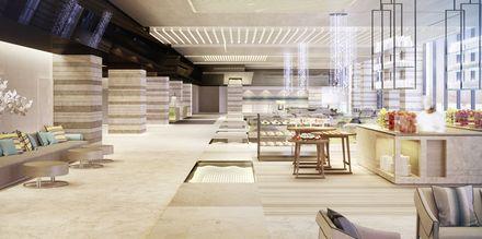 Lobby på Saadiyat Rotana Resort & Villas i Abu Dhabi, Förenade Arabemiraten.