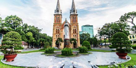 Notre Dame Basilikan i Saigon, Vietnam.
