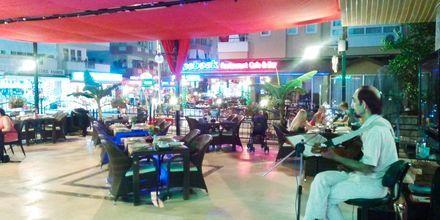 Restaurang på hotell Sailor i Alanya, Turkiet.