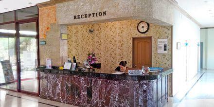Receptionen på hotell Sailor i Alanya, Turkiet.