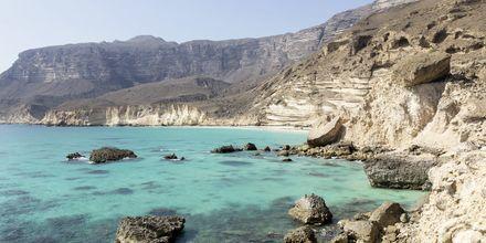 Vy över Salalah vackra kust i Oman.