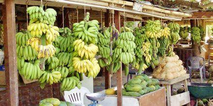 Fruktförsäljning i Salalah i Oman.