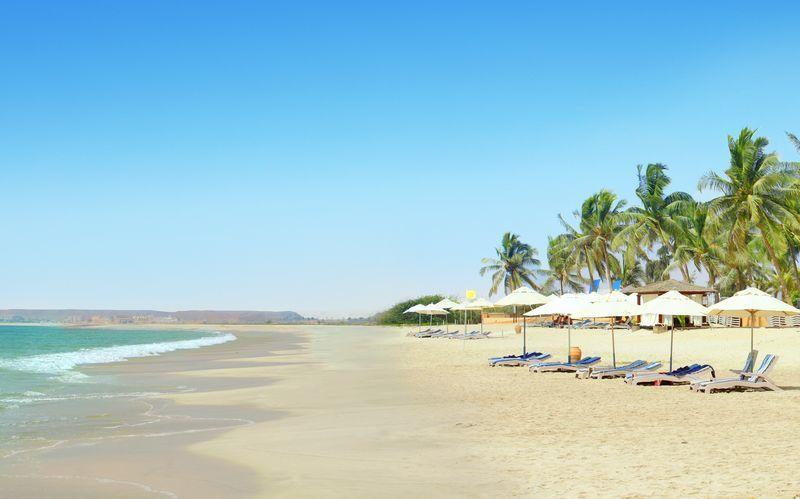 Strand i Salalah, Oman.