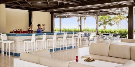 Strandrestaurang- och bar på Salalah Rotana Resort i Salalah, Oman.