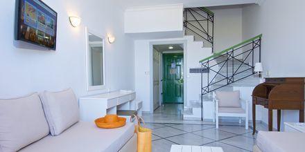 Familjerum på hotell Samaina Inn i Karlovassi på Samos.