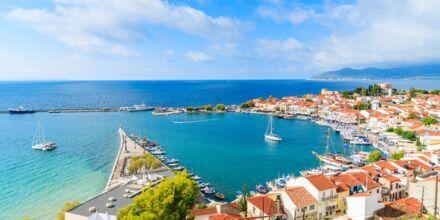 Hamnen i Pythagorion på Samos, Grekland.