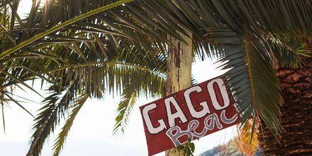 Gagou Beach är en populär strand på Samos som ligger vid Samos stad.