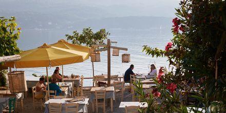 Middag med utsikt på Samos, Grekland.