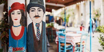 Restaurang i Samos stad, Grekland.