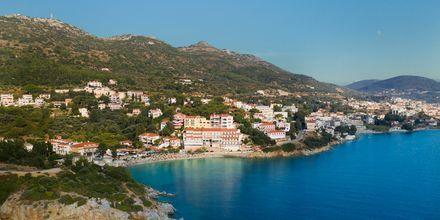 Utsikter över Gagou Beach på Samos, Grekland.