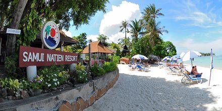 Stranden vid Samui Natien Resort på Koh Samui, Thailand.