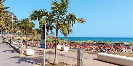 Strandpromenaden i San Agustin på Gran Canaria, Spanien.