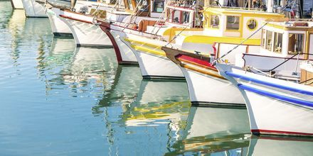 Båtar vid Fishermans Wharf.