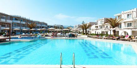 Poolområde hotell Santa Helena Beach i Platanias på Kreta, Grekland.